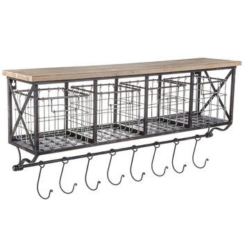 Brown Two-Tiered Metal Wall Shelf | Hobby Lobby | 1133628