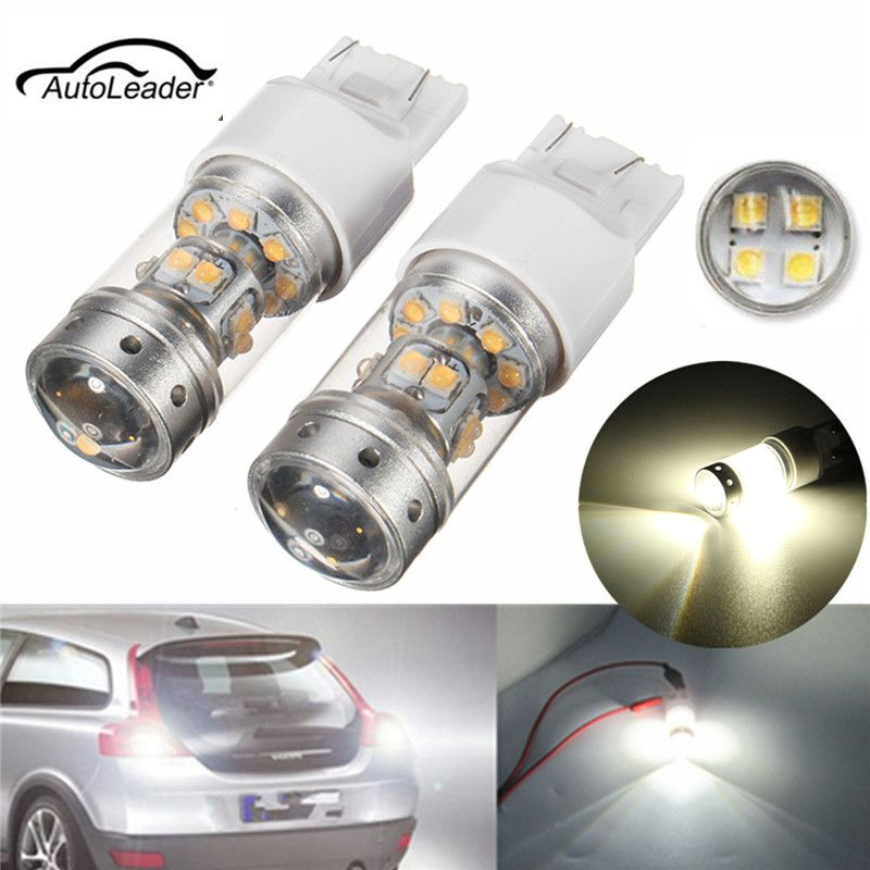 2pcs Car Led Turn Signal Light Tail Brake Light Bulbs High Power White 140w 28 7440 7444 Led Backup Reverse Lights Bulbs With Images Car Lights Car Led Light Bulbs