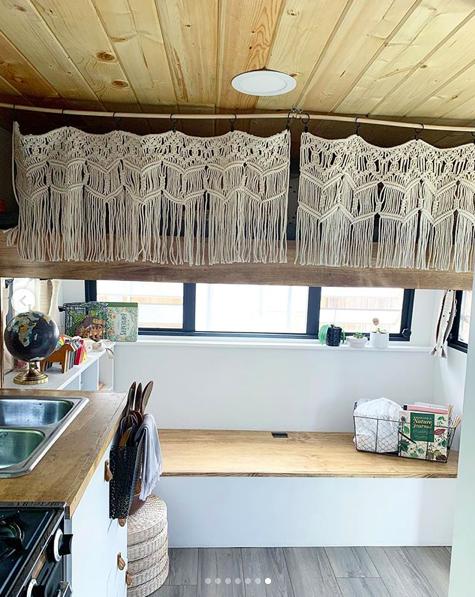 Long Macrame Wall Display 6 Foot Macrame Curtain Macrame RV Camper Curtain
