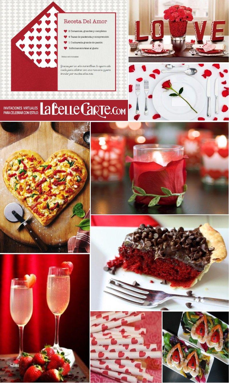 Tarjetas De San Valentín E Ideas Para Organizar Una Cena De