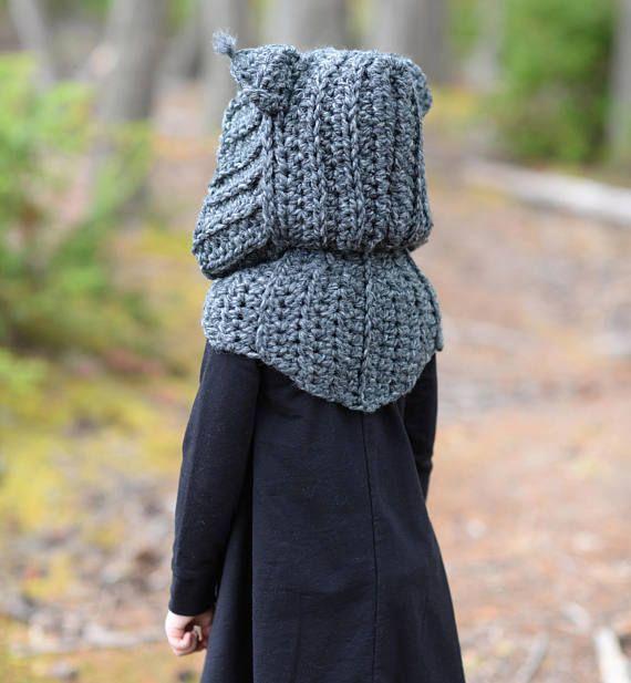 CROCHET PATTERN Lyna Lynx Hood Toddler Child Teen Adult | bufandas y ...