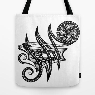 Shoulder Band Tattoo  Tote Bag by Maria Bozina - $22.00