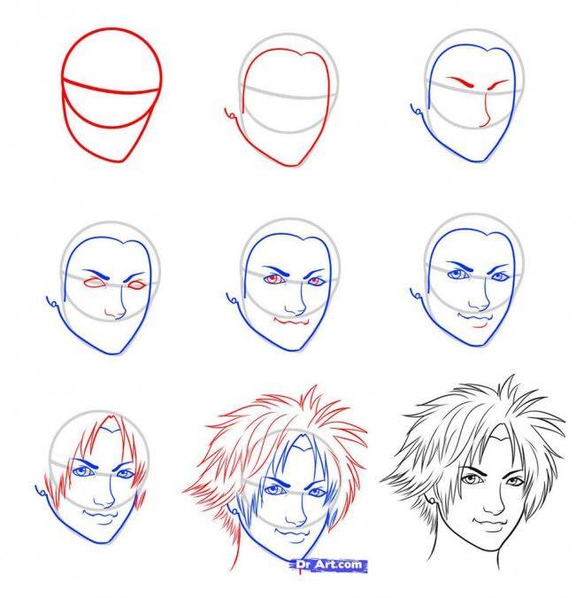 le visage de dessin