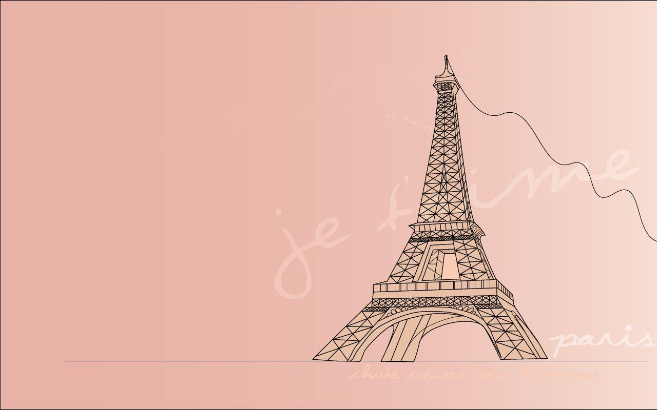 エッフェル塔 女の子向け ピンク Pinkのかわいい壁紙画像集