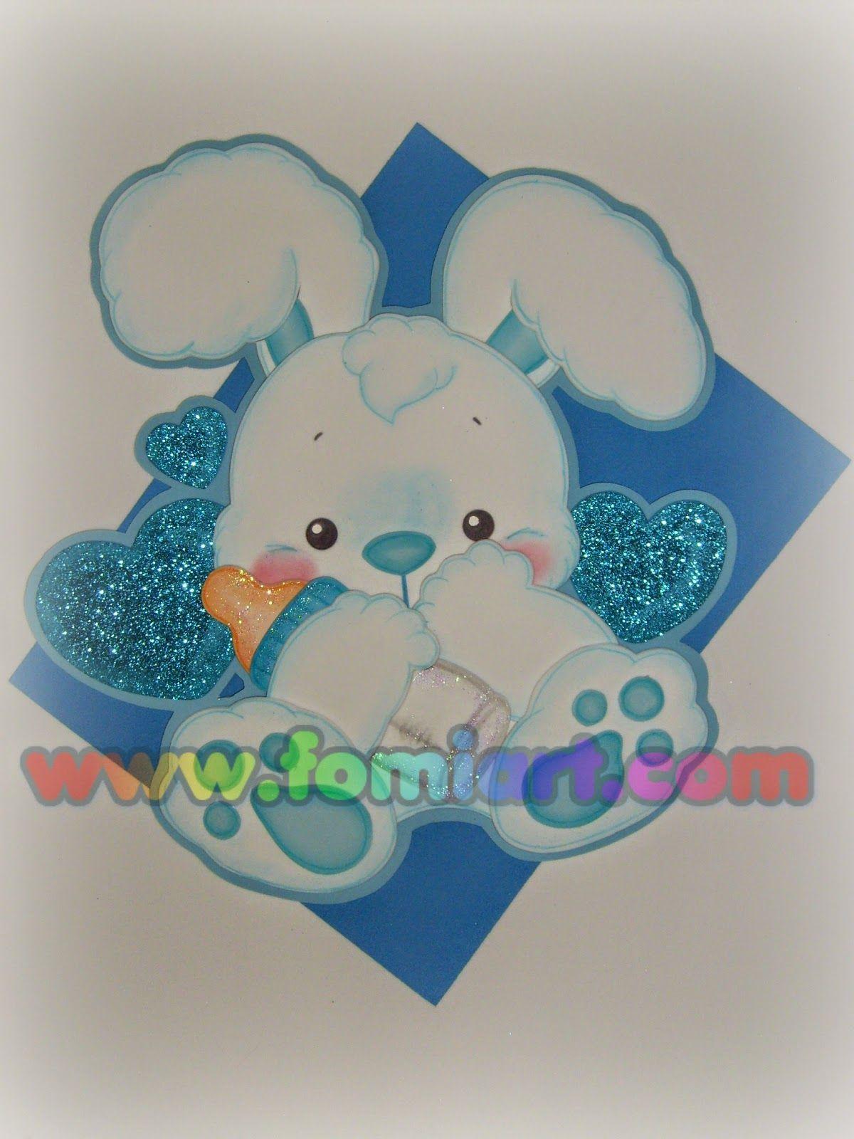 Conejito para decorar un baby shower babe shawer for Decoracion habitacion bebe goma eva