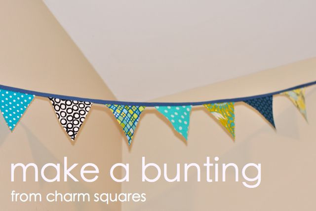 Make A Bunting From Charm Squares This Is Only One Of The Many Tutorials She Has Whole Blog Really Cute