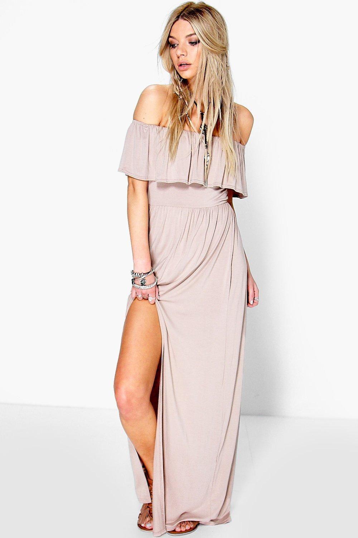 9a7c5d9a2c53 Ruffle Bandeau Slip Front Maxi Dress | Bridesmaid Dress Options in ...
