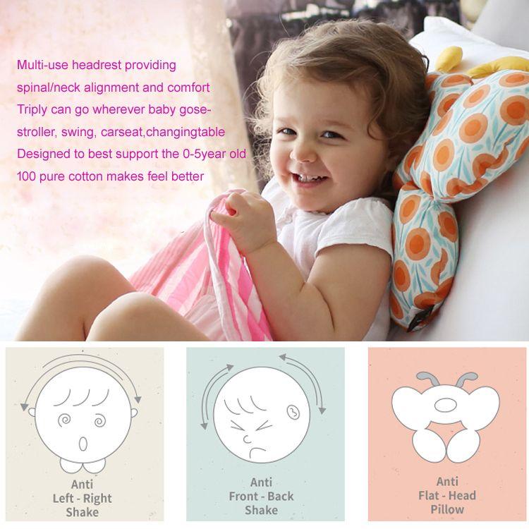 3 anti step baby kid toddler head neck suppot headrest travel car seat pillow stroller cushion