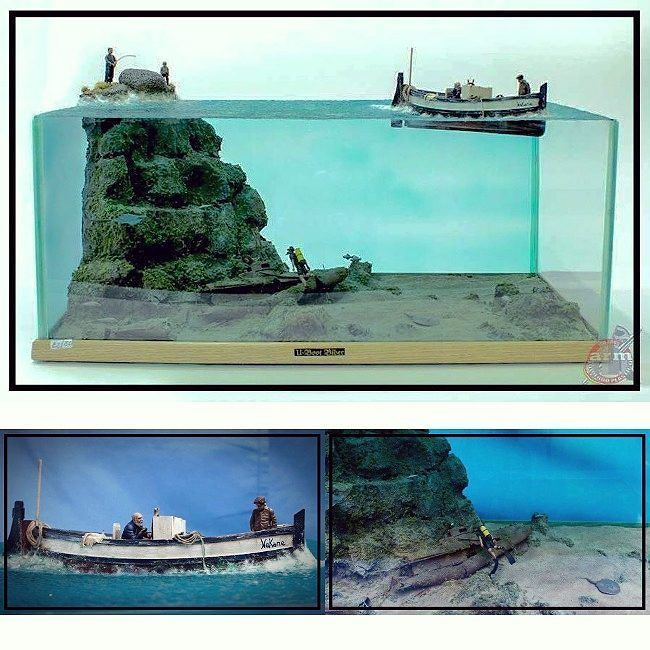 Nice fishing friends diorama modeler toni toni for Toni fish realty