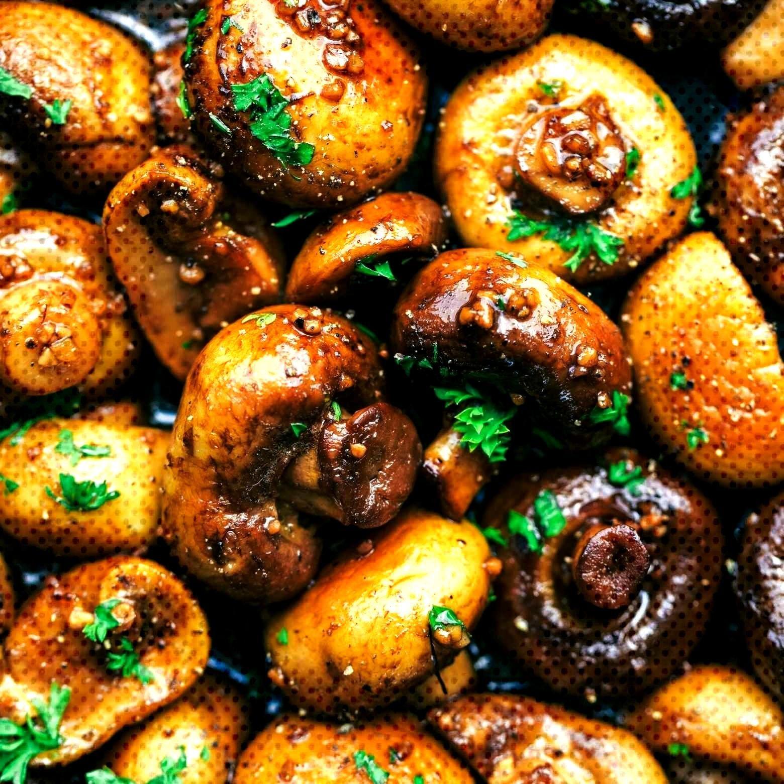 Honey-balsamic-garlic mushrooms - recipes - Honey-balsamic-garlic mushrooms – recipes -