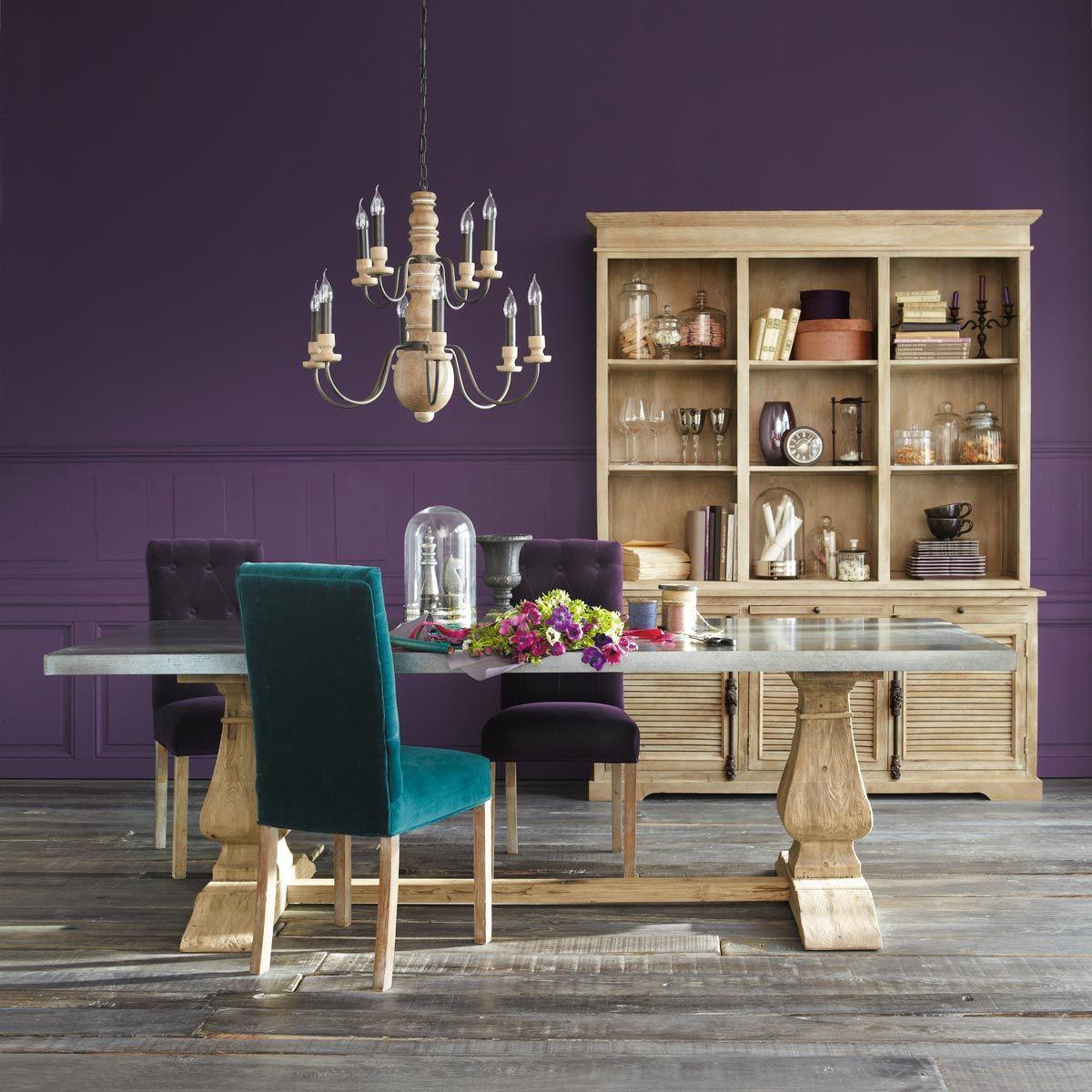 chaise capitonn e velours aubergine elizabeth chaises pinterest chaise capitonn e velours. Black Bedroom Furniture Sets. Home Design Ideas
