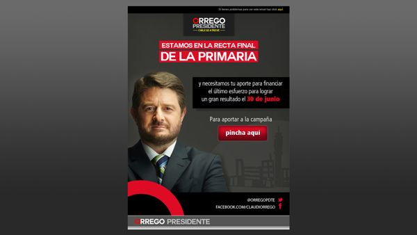 Gráfica para candidatura presidencial de Claudio Orrego by Alicia Aravena, via Behance