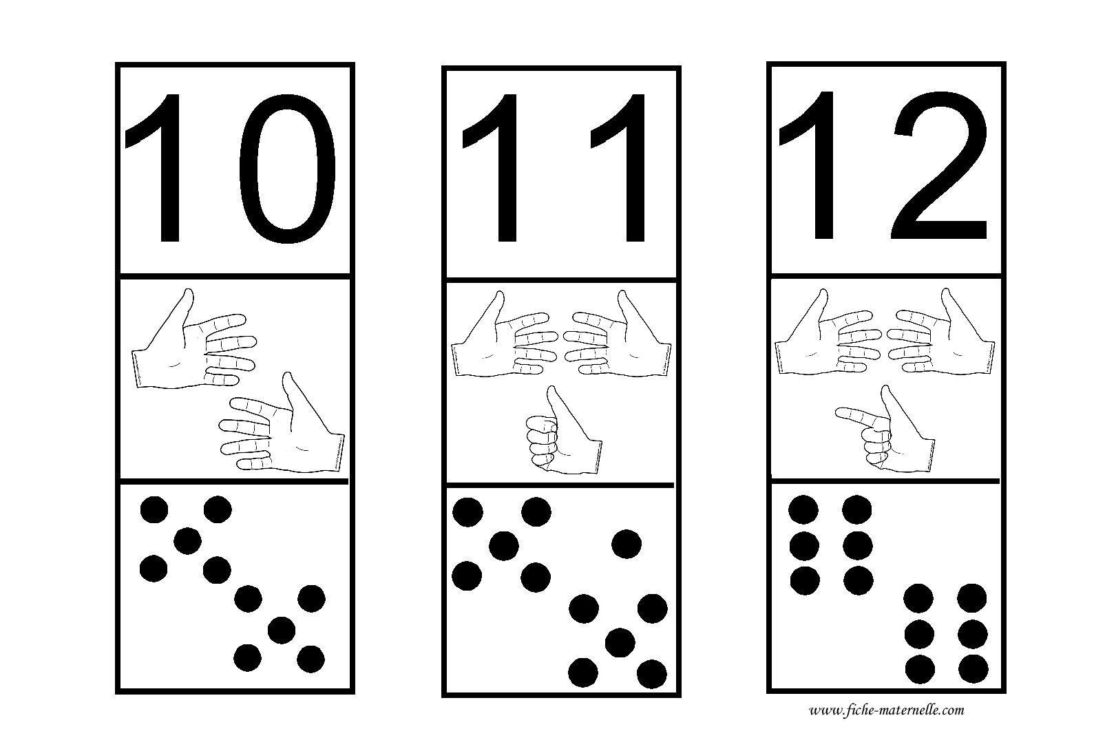 getalsymbool, vingerbeelden en dominostenen