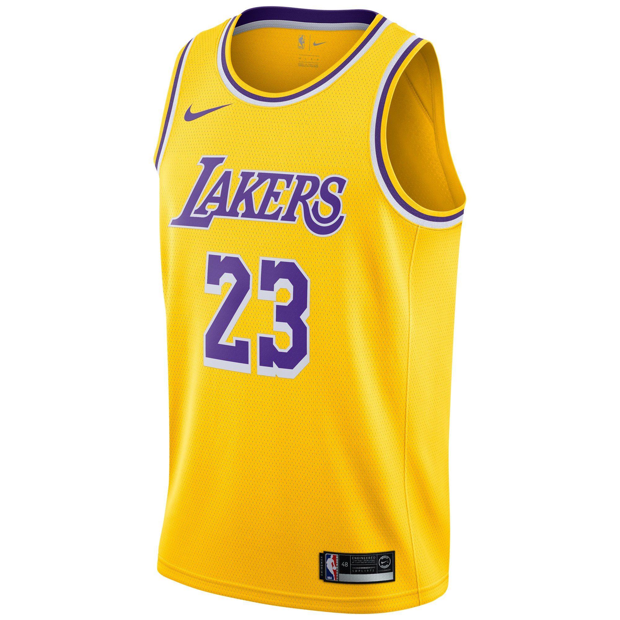 Men S Los Angeles Lakers Lebron James Nike Gold Swingman Player Jersey Icon Edition Nba Swingman Jersey Lebron James Lakers Bryant Lakers