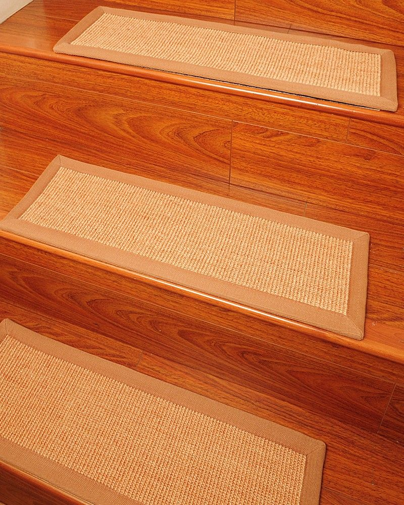 Natural carpet treads for stairs so pets don 39 t slip on for Hardwood floors slippery