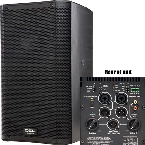Just Got My First Two Today Qsc K10 10 Powered Pa Speaker Audio Powered Pa Speakers Pa Speakers Powered Speakers