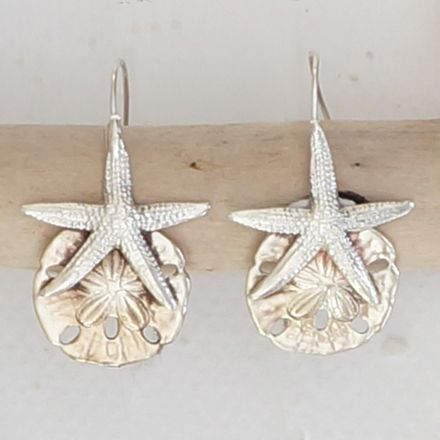 Starfish And Sand Dollar Earrings North Carolina Jewelry