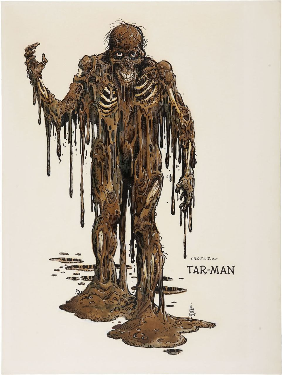 Tar-man concept art for Return of the Living Dead.