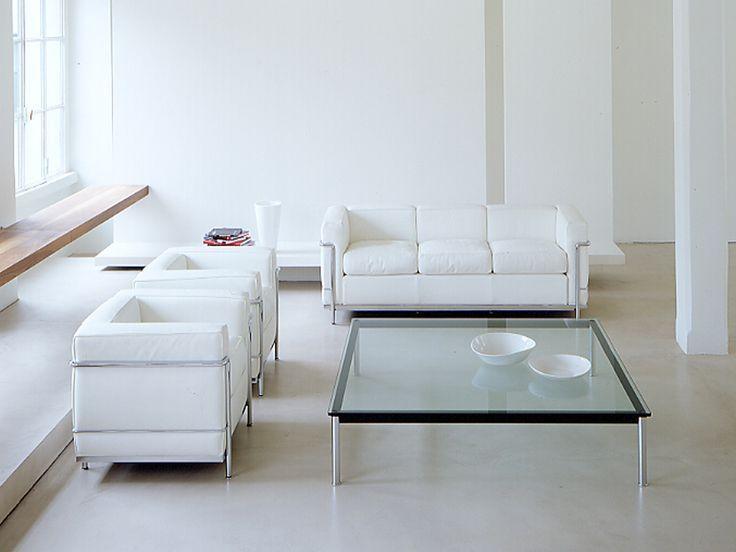 Sessel Lc2 Und Dreisitzer Sofa Lc2 Von Le Corbusier Modern Leather Sofa Le Corbusier Corbusier Furniture