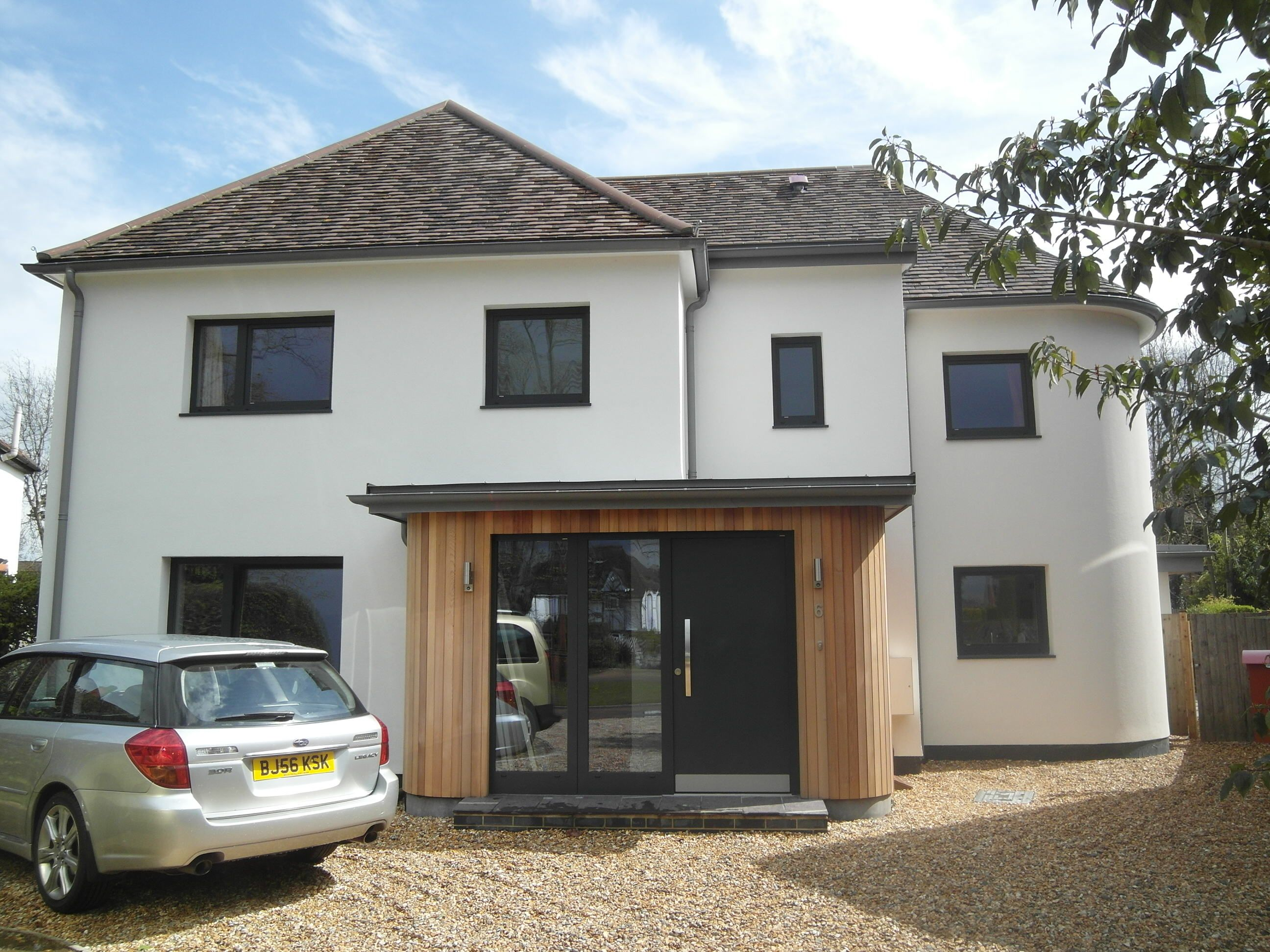 A 1930 detached house extended and refurbished using for Garage extension ideas