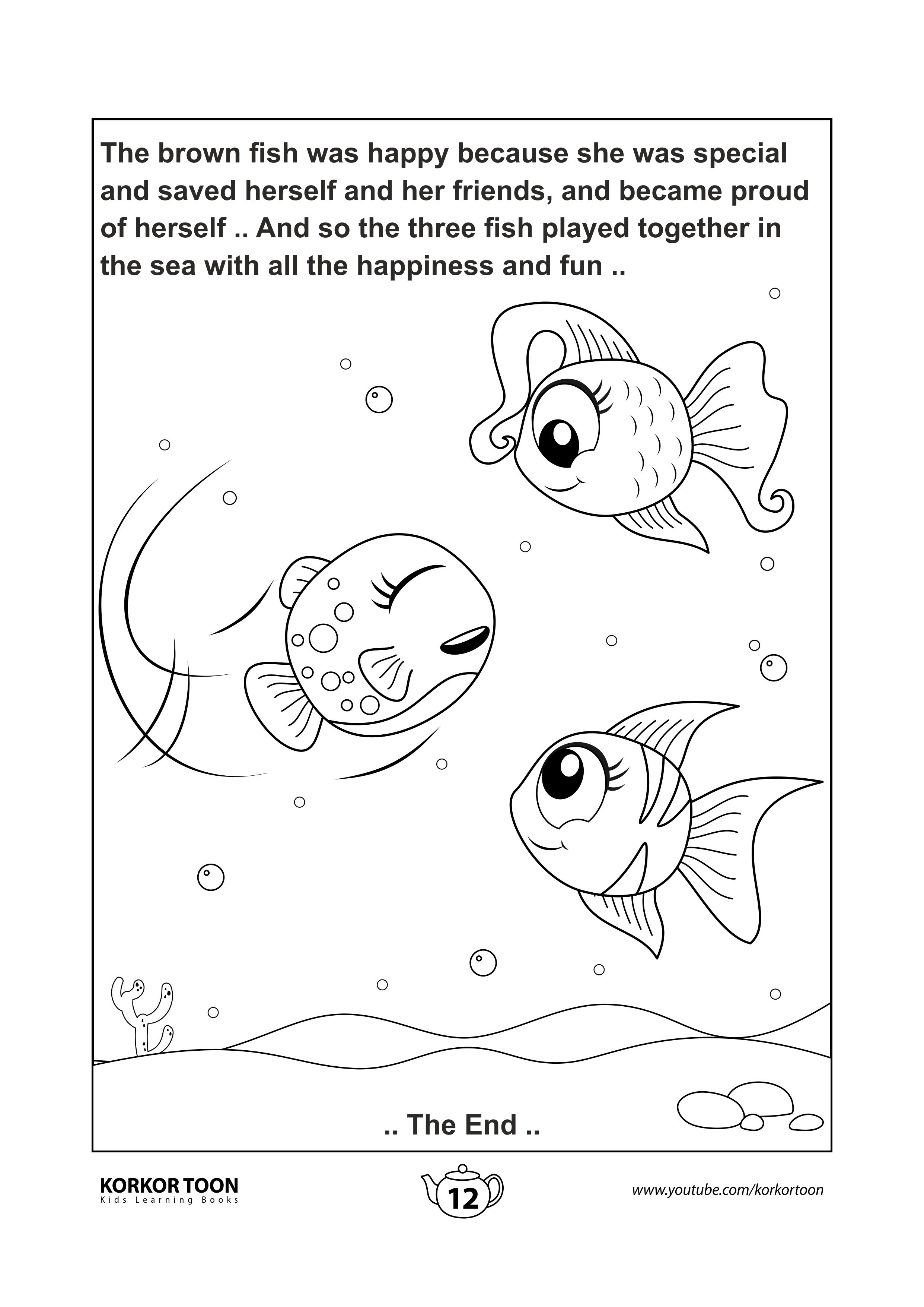 Coloring Page 12 The Special Fish Story Coloring Book Coloring Books Kids Coloring Books Printables Free Kids