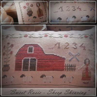 Sweet Rosie-Sheep shearing / Primitive cross by TheSubRosaDesign