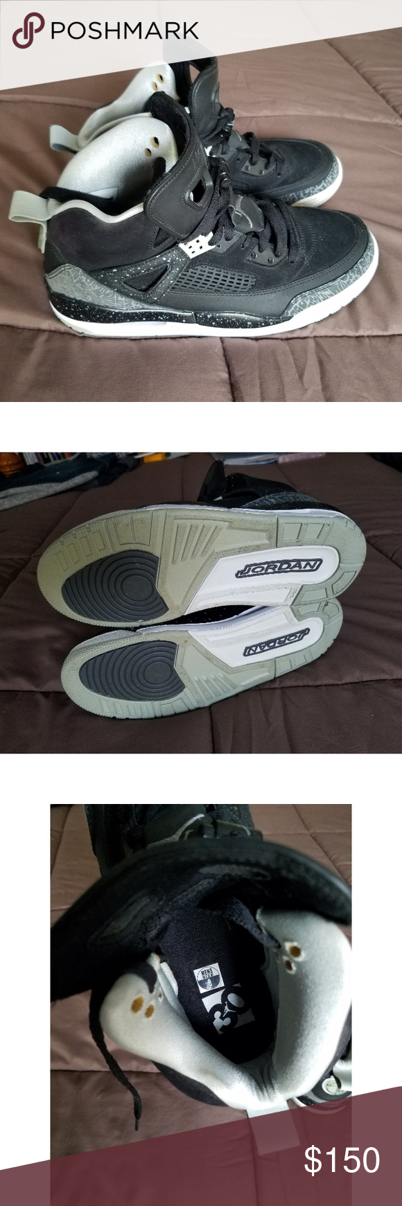 on sale 0ee2a cc929 Air Jordan Spike Lee Oreo Size 8 Nike Air Jordan Spizike Black Cool Grey  Mist White 315371-003 Size 8 In good condition Comes from a smoke and pet  free home ...