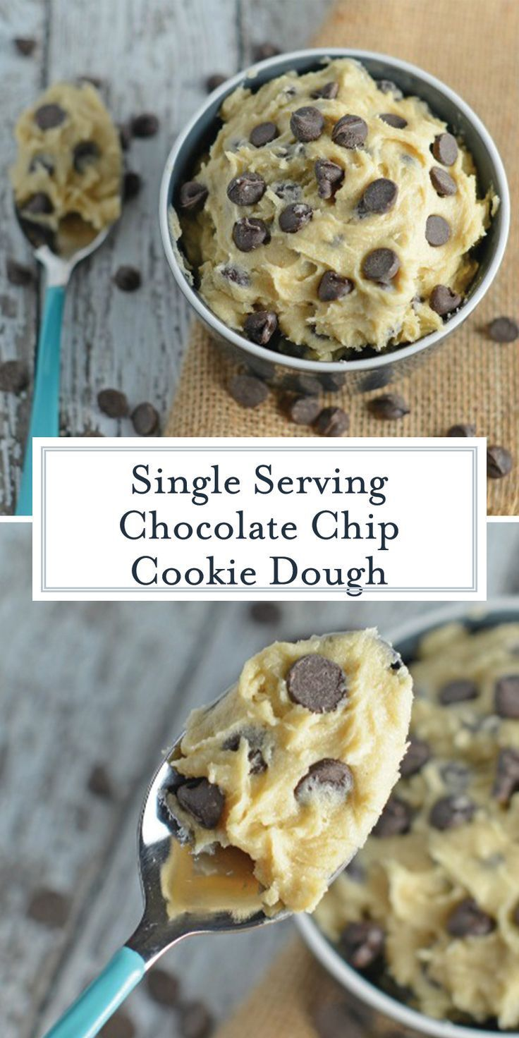 Edible Cookie Dough - Edible Chocolate Chip Cookie Dough for ONE!