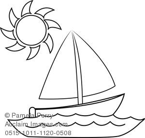 Sailboat Coloring Page Coloring Pages Boat Drawing Coloring