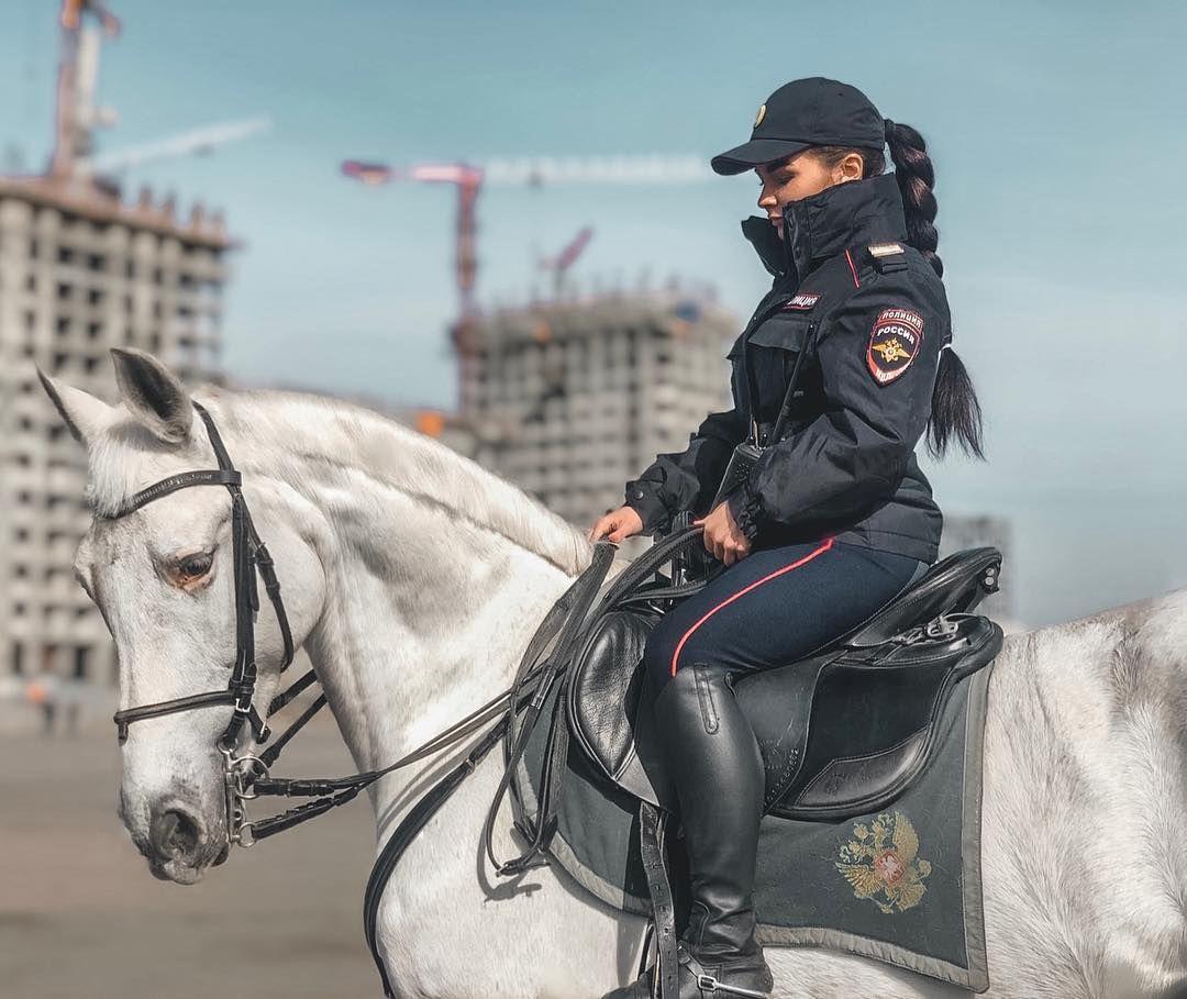 Russian Mounted Police On Policiya Loshadi Specnaz