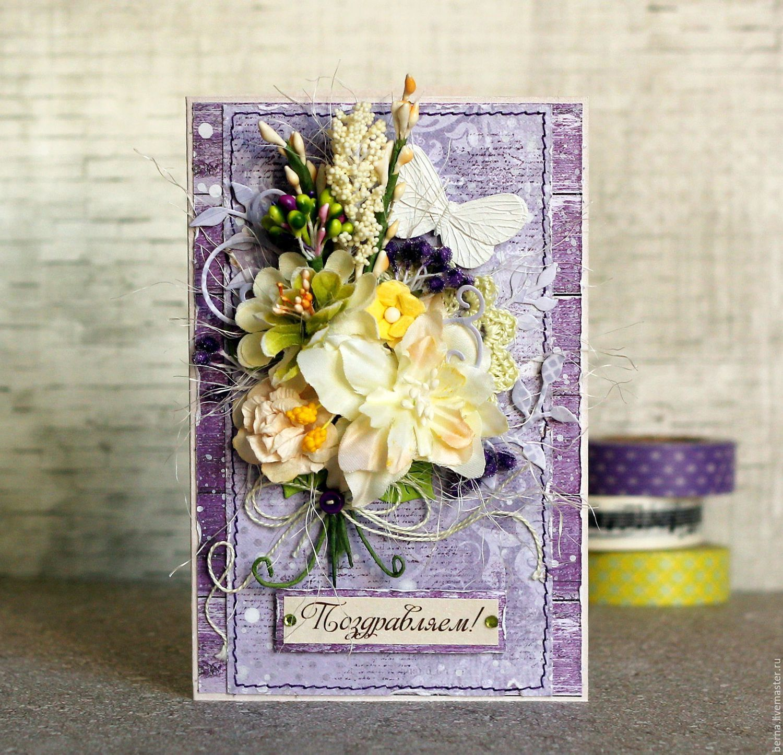 Цветы для открыток ручная работа, днем