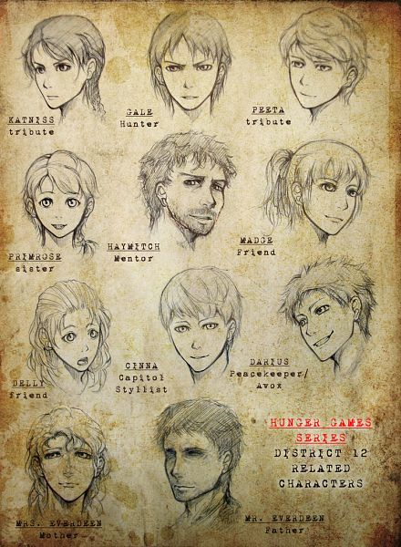 The Hunger Games Anime Version Hunger Games Districts Hunger