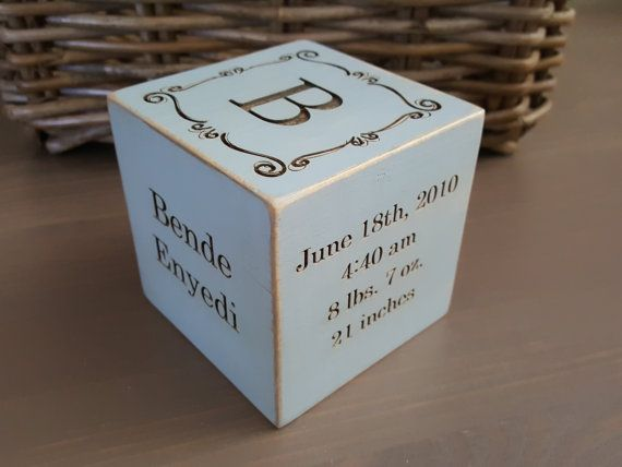 Personalized baby gift custom baby gift 3 in wooden block baby personalized baby gift custom baby gift 3 in wooden block baby gift nursery decor wooden cube gift for parents grandmas gift negle Image collections