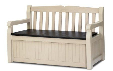 Amazon Com Keter 186300 70 Gallon Garden Bench Box Patio