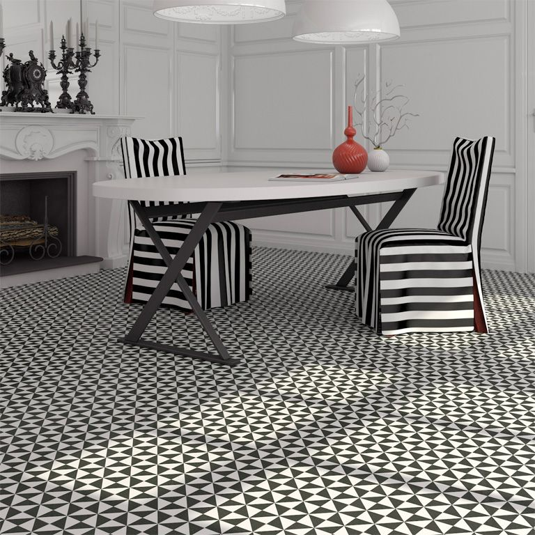 Black And White Victorian Tiles Available From Italian Tile And