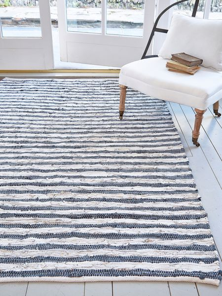 Striped Rug Grey Silver Nordichouse Co Uk 99