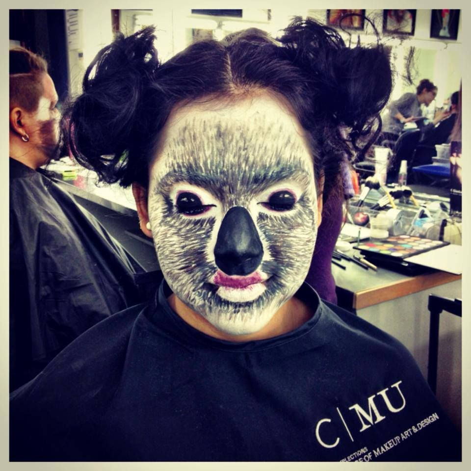 Koala Makeup On Sarah Animal Makeup Koala Costume Face
