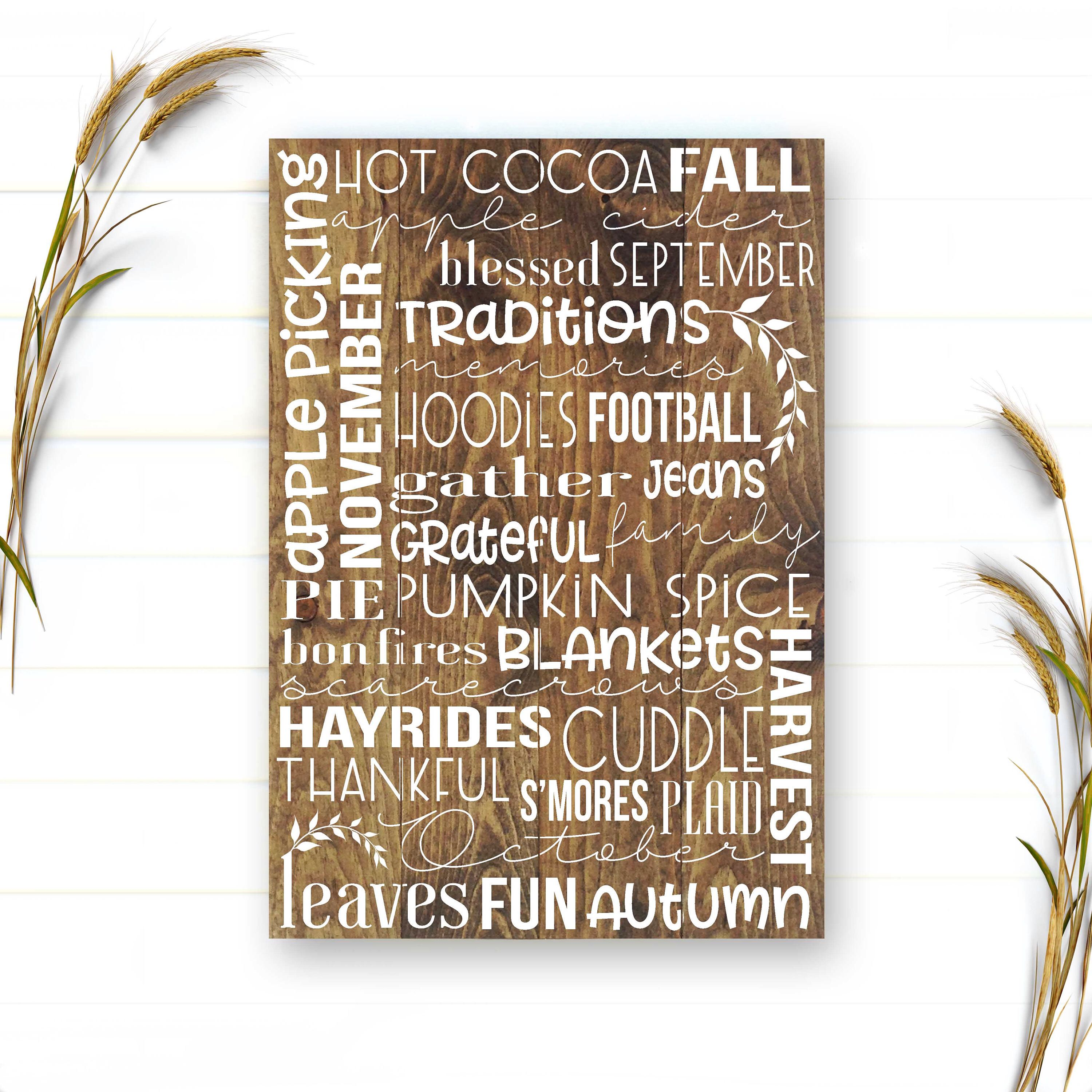 Fall Sign Fall Words Sign Fall Signs Fall Decor Autumn