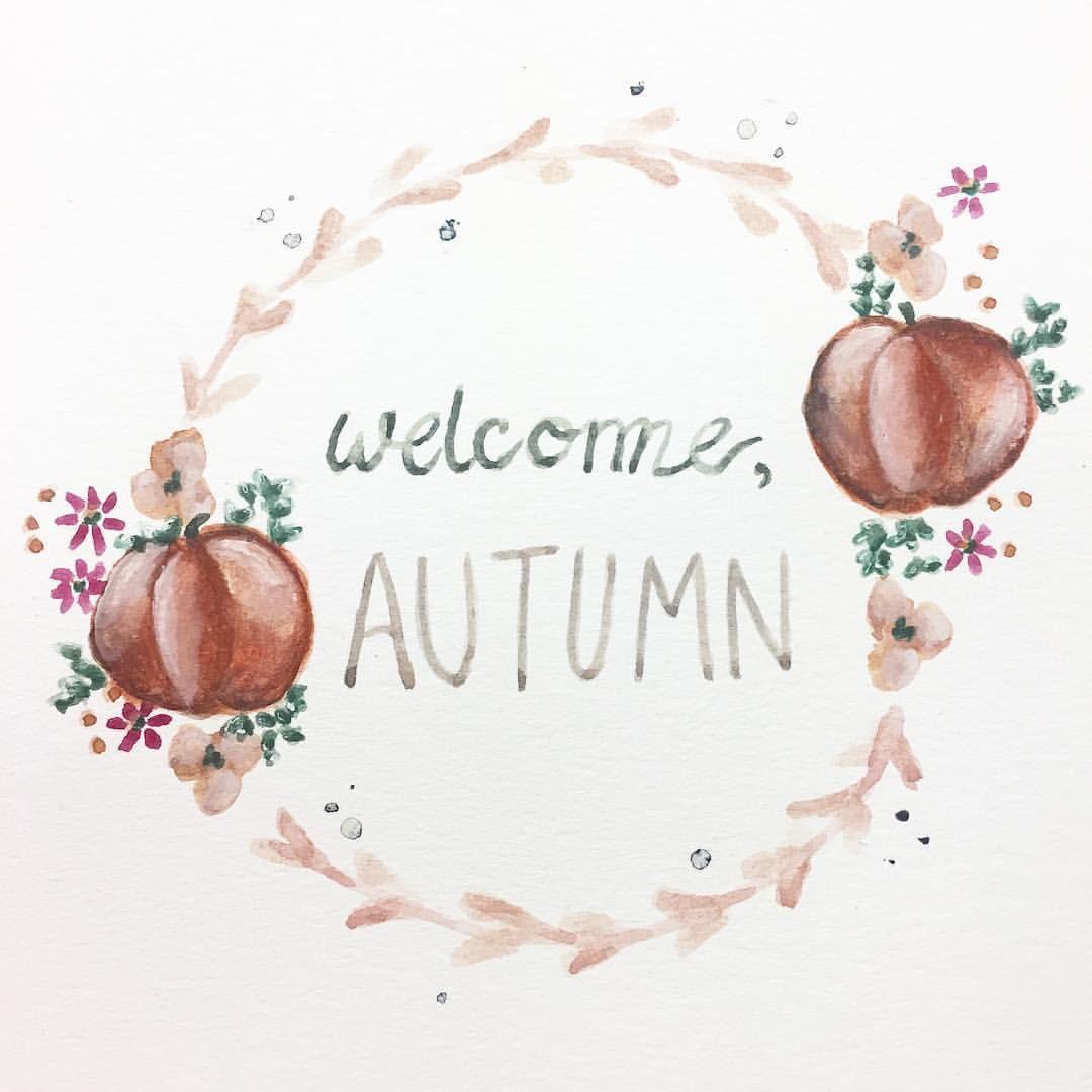"Katrina Ryan Art - ""Welcome Autumn"" wreath"