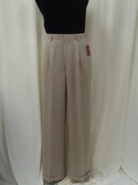 b3574d4fe62 1940s Style Men s Pants and Trousers Pleated Wide Leg Pants Wool-feel White  Mens TrousersSlacks Cheap  75.00 AT vintagedancer.com