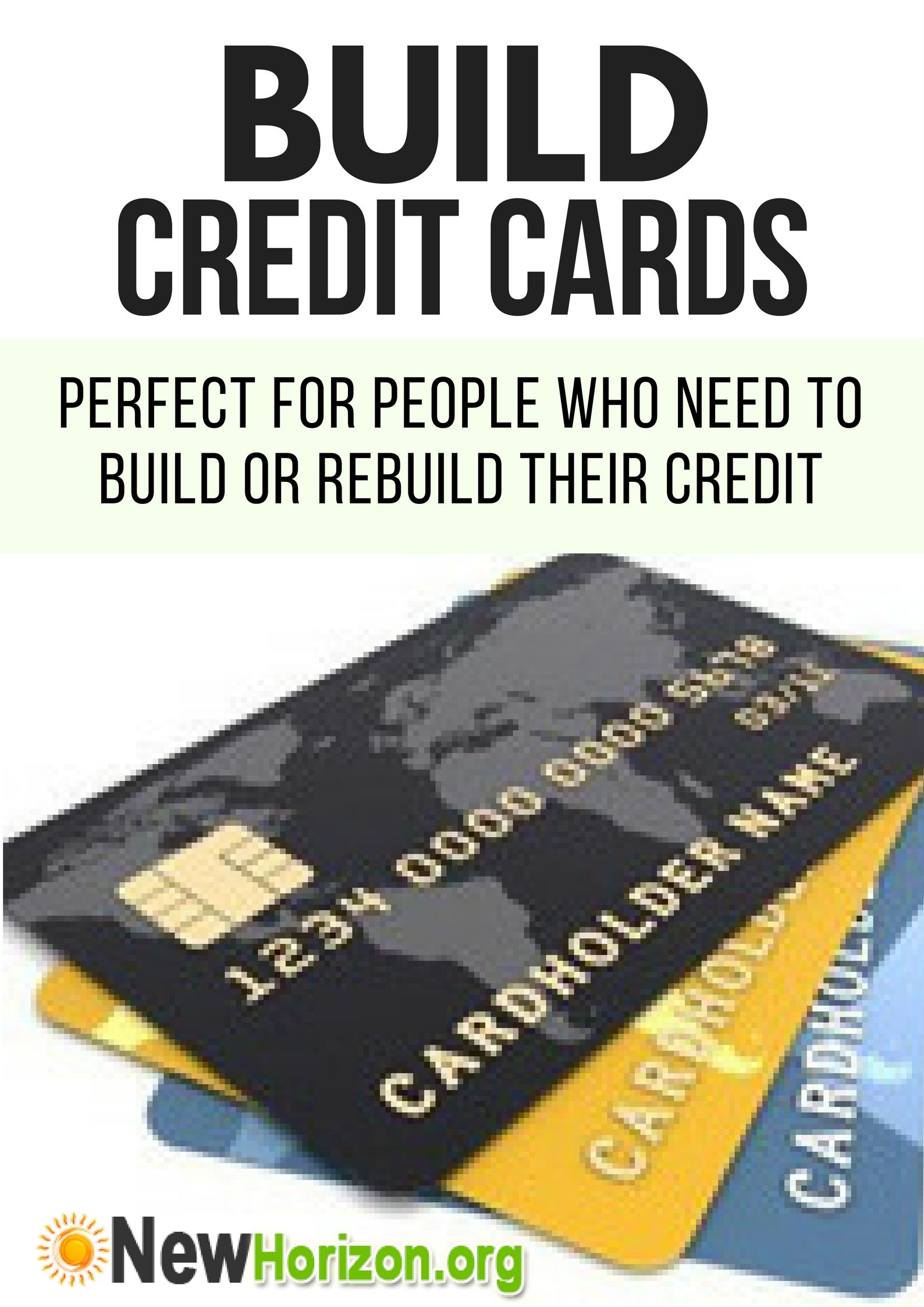 Credit cards for rebuilding your credit history build