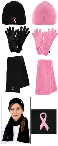 Pink Ribbon Plush Microfleece Accessories at The Breast Cancer Site