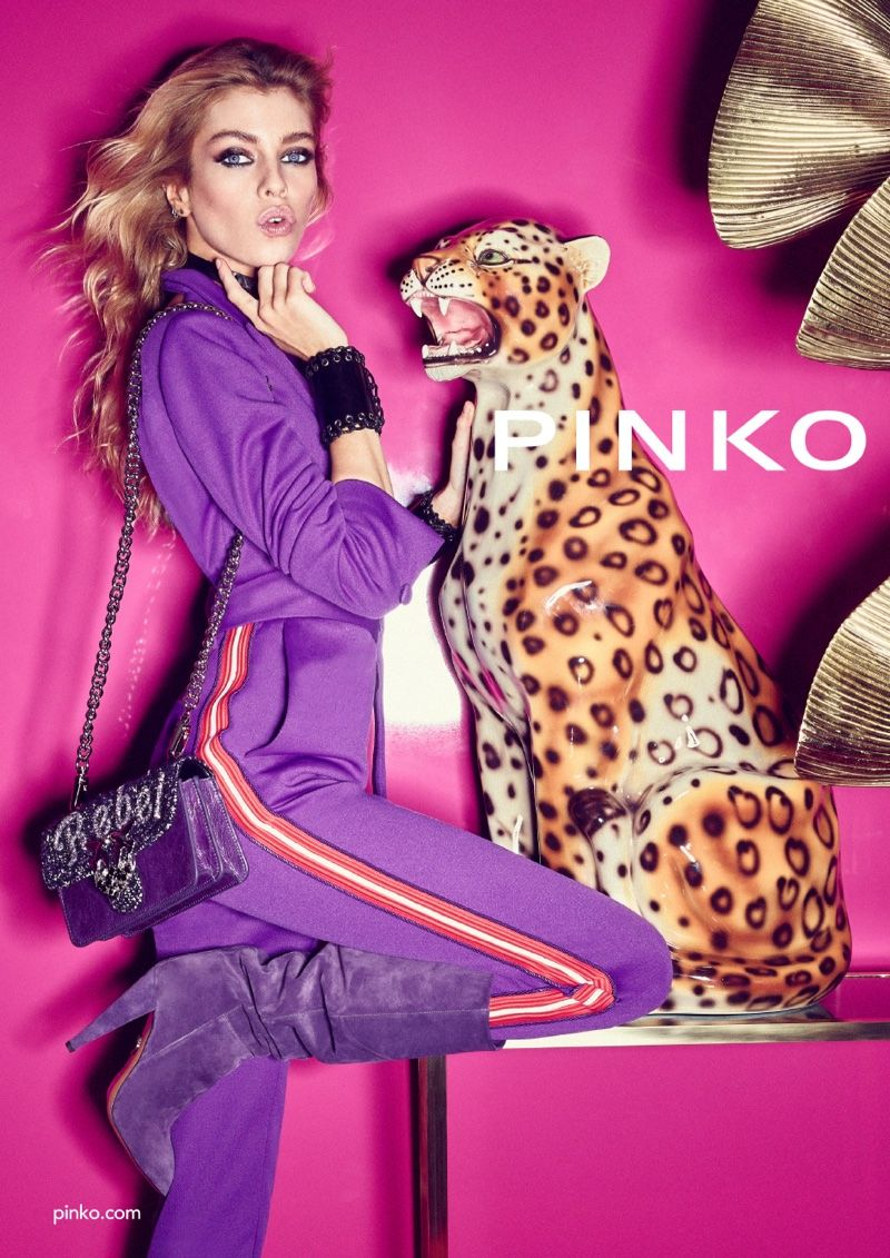 Fashion week Fall pinko winter campaign for woman