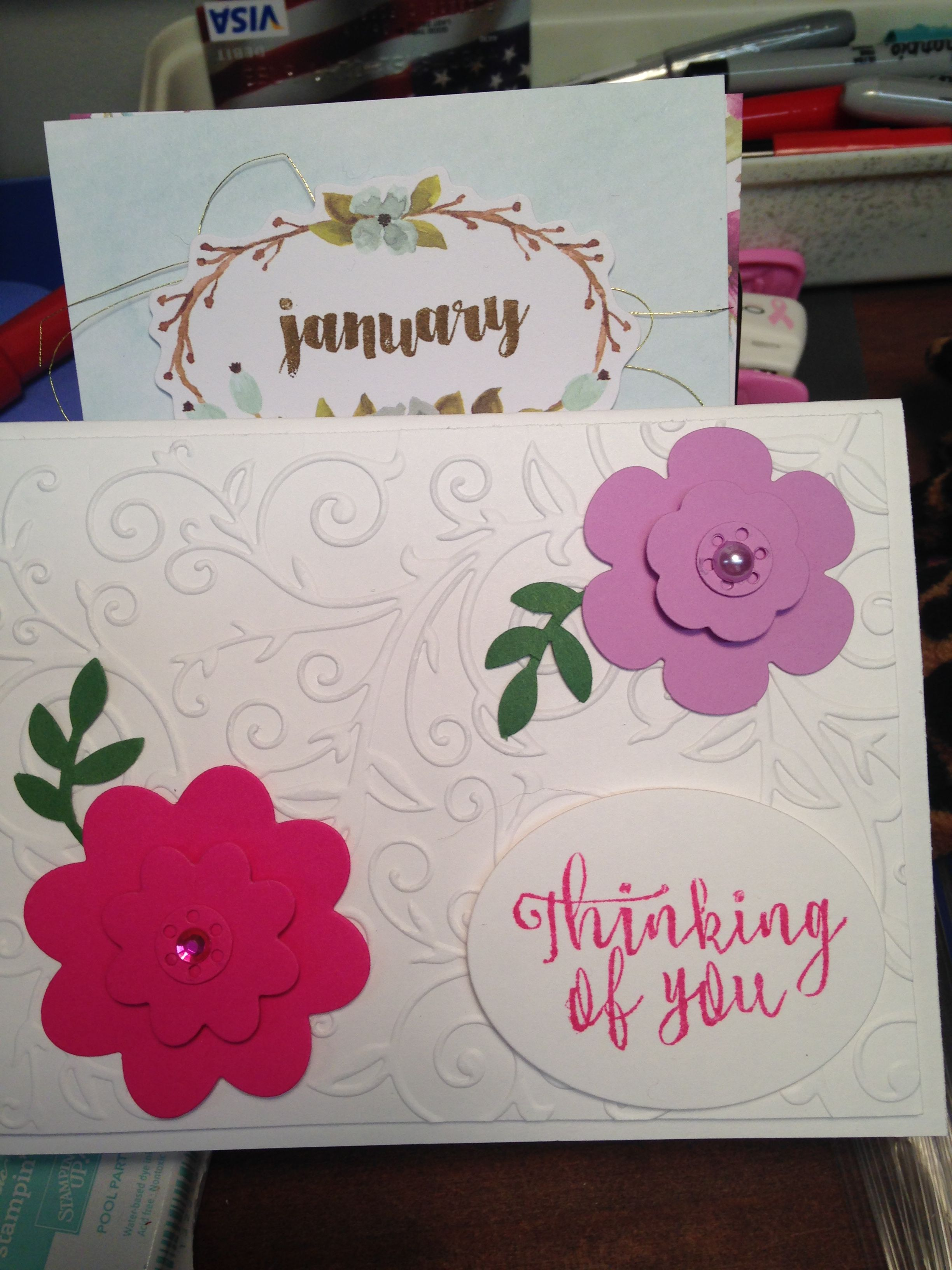 one of my thinking of you cards i made from my flower thinlits
