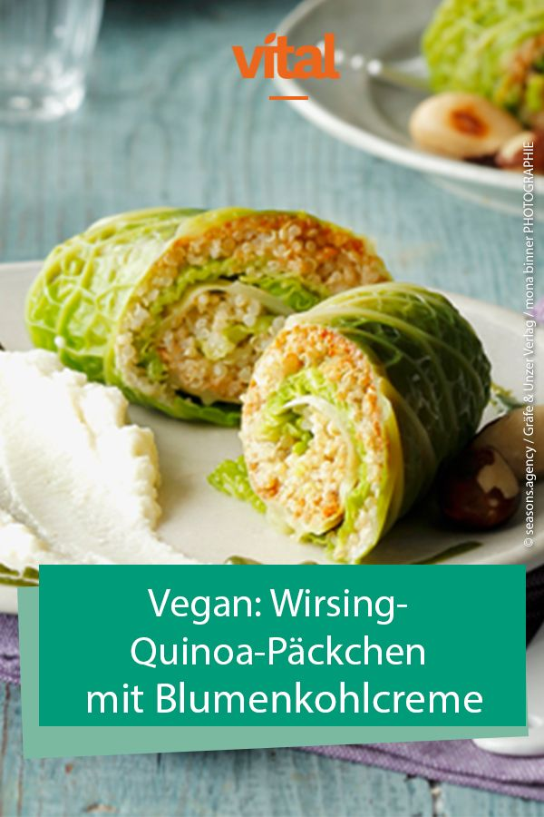 Photo of Savoy quinoa packet with cauliflower cream