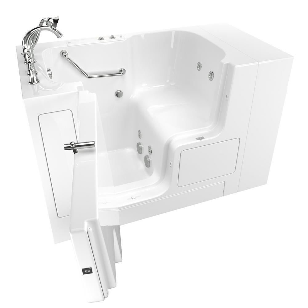 American Standard Gelcoat Value Series 4.3 ft. Walk-In Whirlpool ...