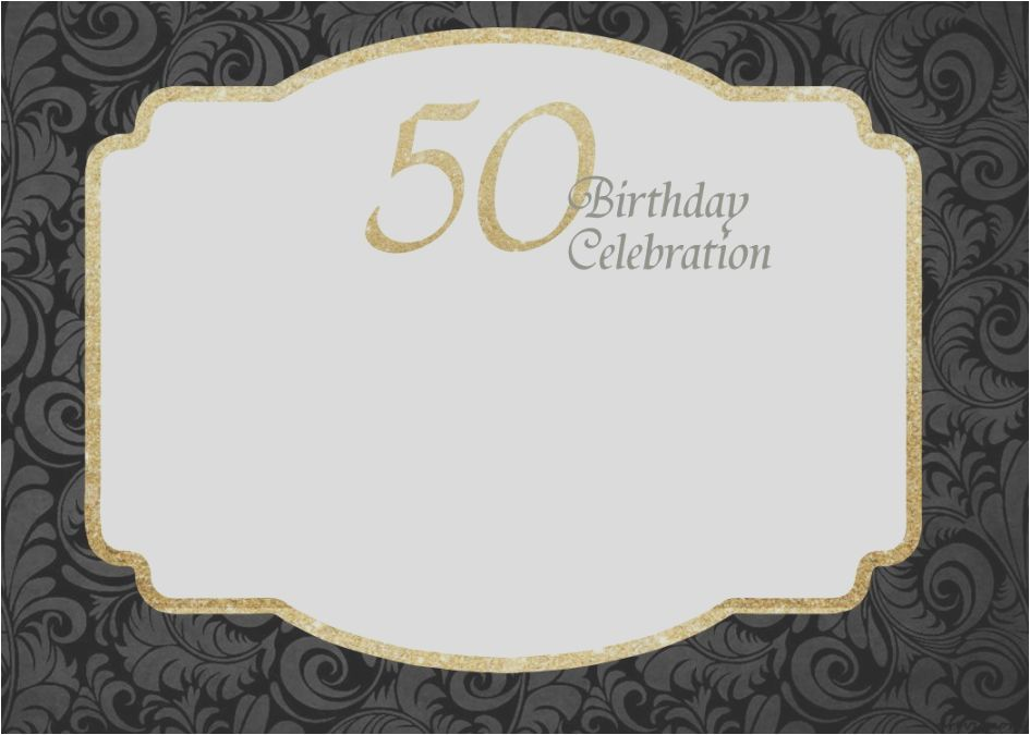 Print Invitations Online Free Printable 50th Birthday Template By Admin For Detail And More