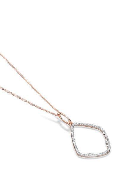 9e8b0be974ae12 Free shipping and returns on Monica Vinader Riva Diamond Hoop Pendant Charm  at Nordstrom.com. The organic shape of an elegant pavé diamond-studded hoop  ...
