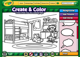 Online crayola design a coloring page | Coloring pages ...