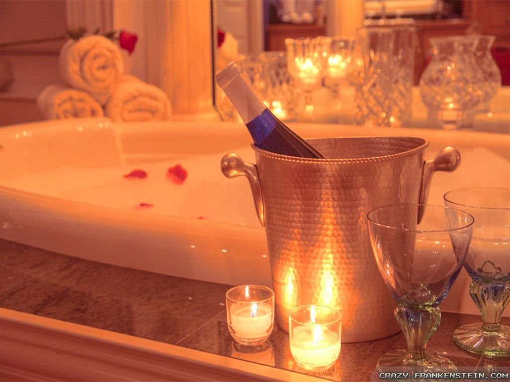 Romantic bubble bath to end the night | Feeling kind a ...